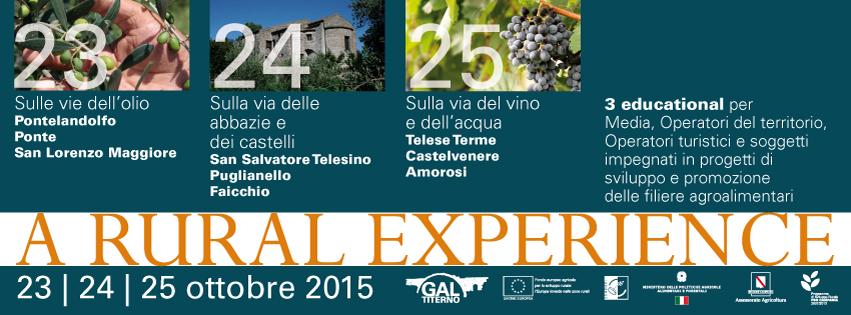 A RURAL EXPERIENCE: un tour gratuito nel Titerno! - 23/24/25 Ottobre 2015