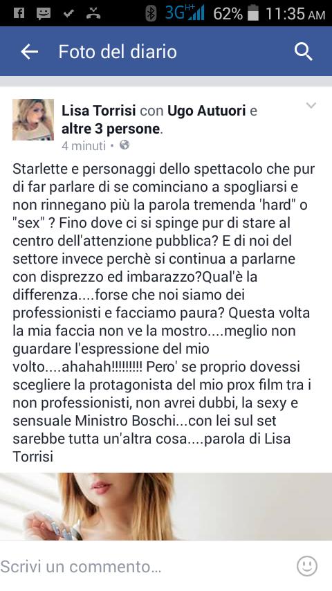 Lisa Torrisi / Ministro boschi